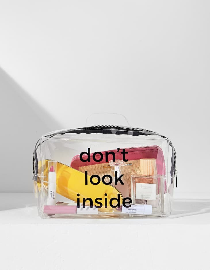Transparent travel toiletry bag