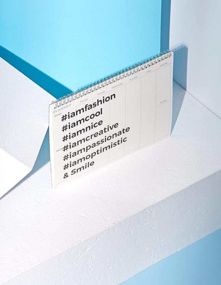 Tisch-Terminkalender mit transparentem Einband