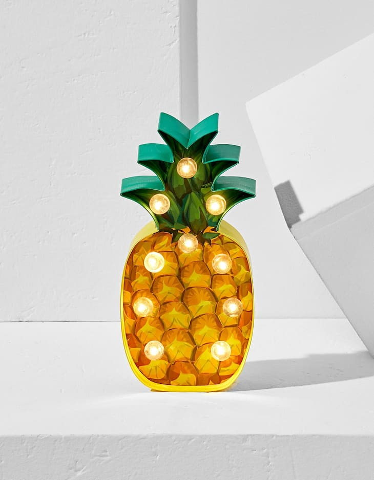 Paper pineapple with lights