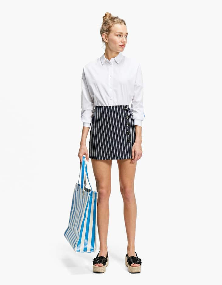 Skort with button details