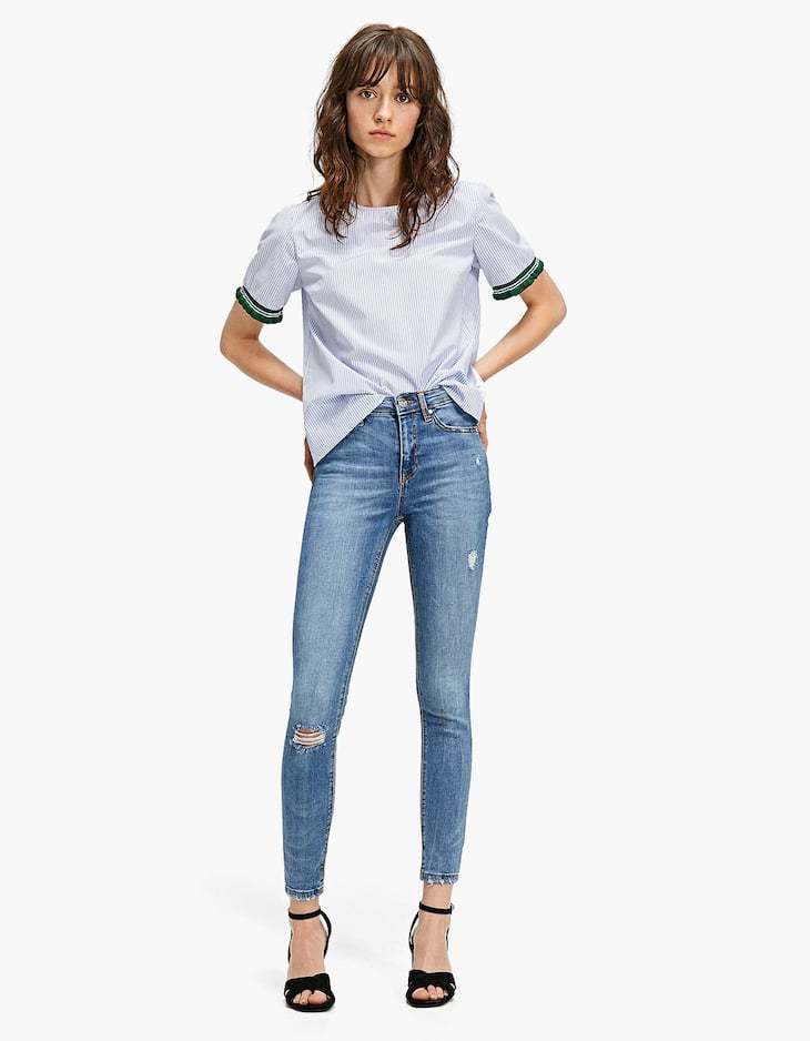 Pantalons high waist denim