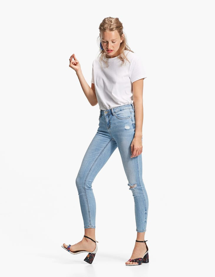 Skinny denim jeans