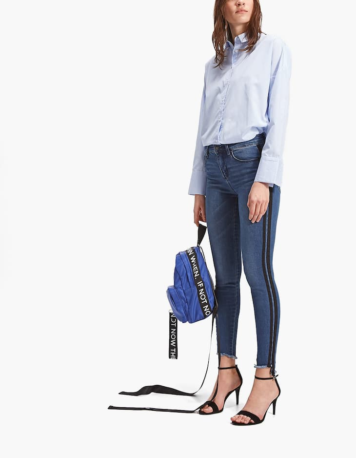 Double Side Stripe Skinny Jean