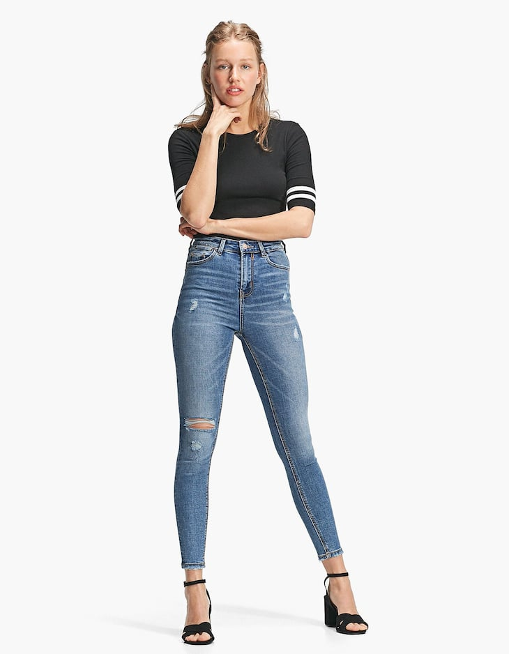 Super High Waist Skinny Jeans