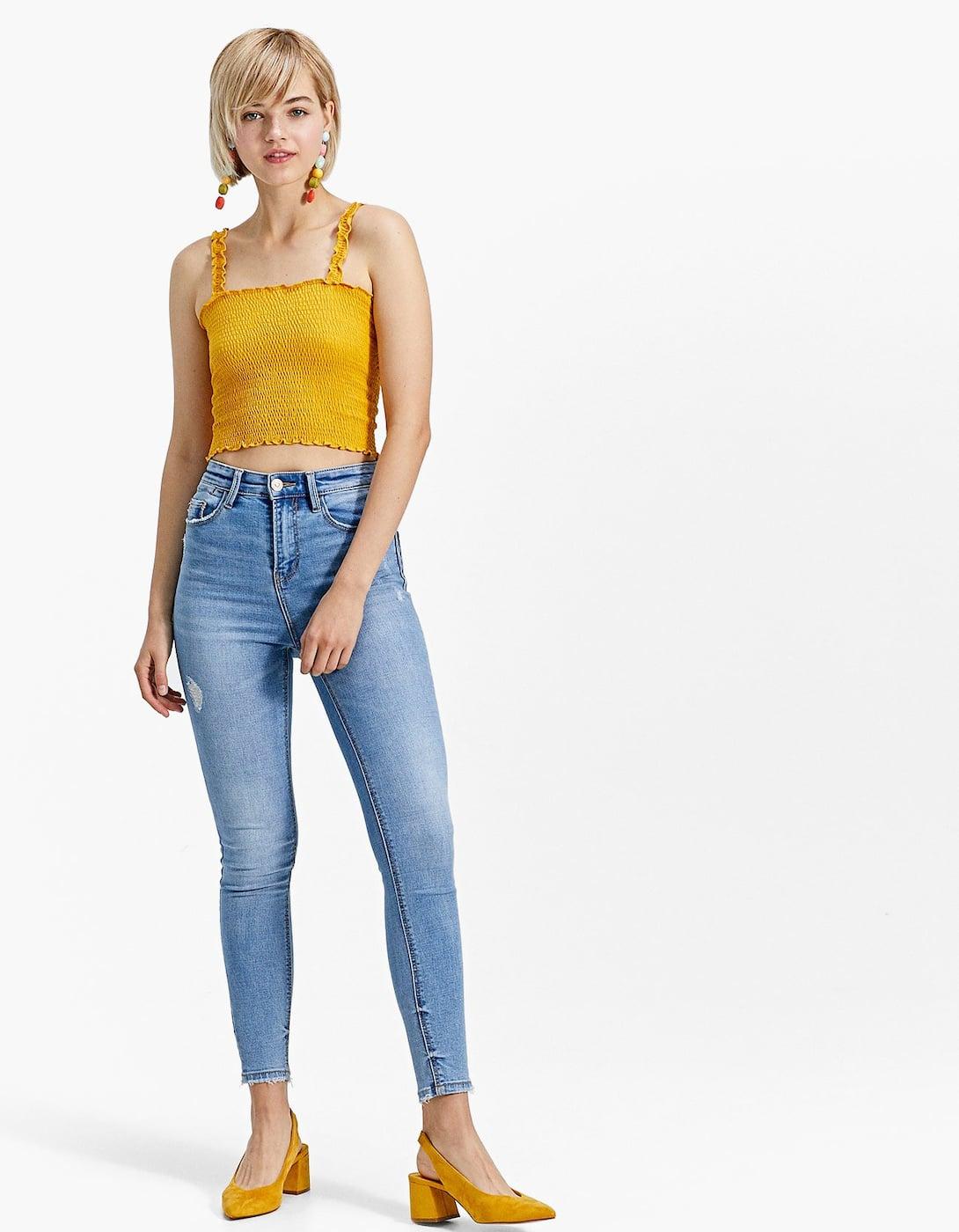 111fe3ab285f Super high waist denim jeans - null