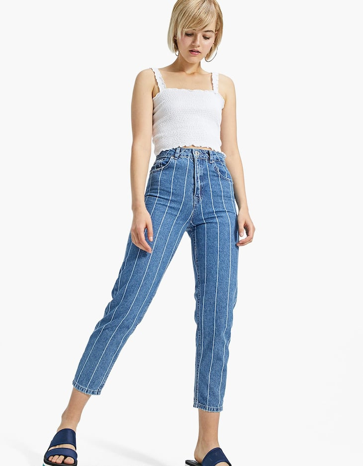 Stripe Mom Jean