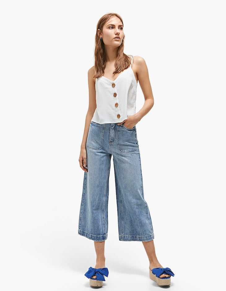 Culottes with front pockets