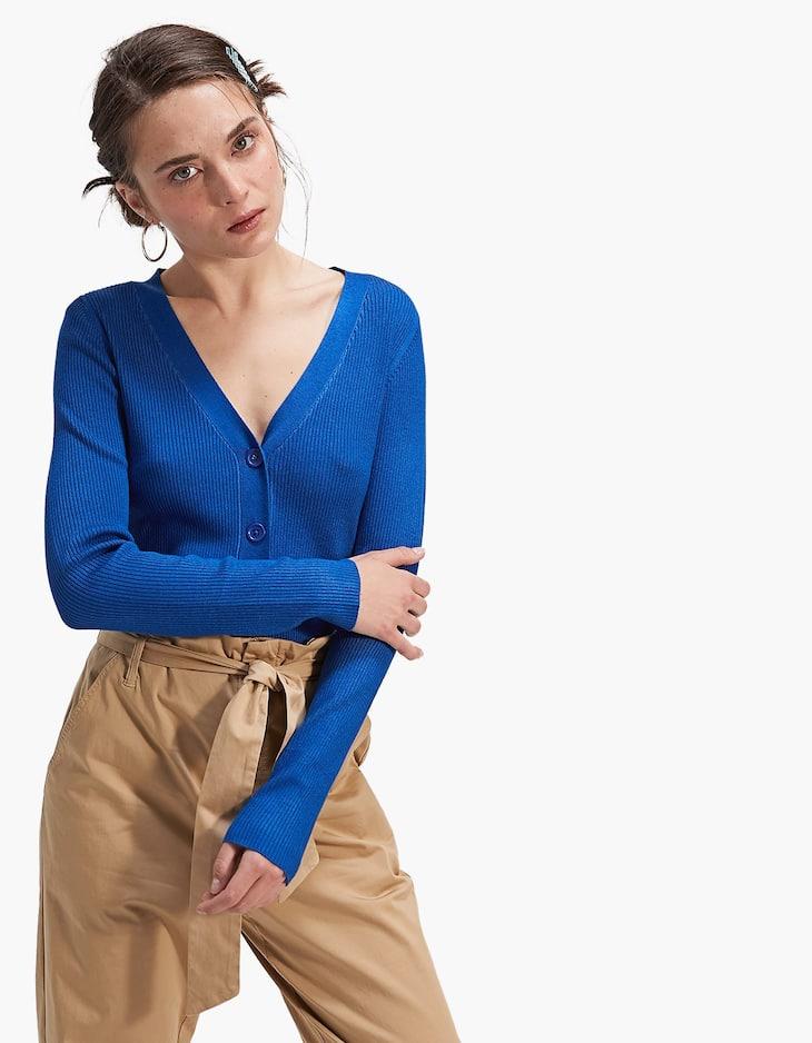 V-neck cardigan
