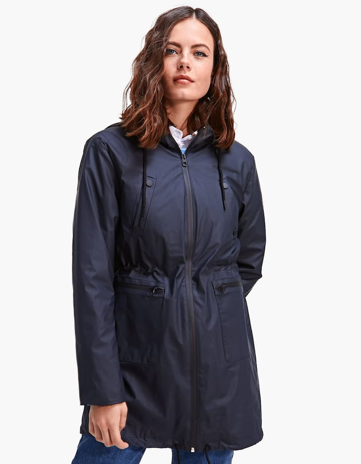 Technical raincoat