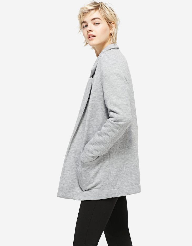 Plush jersey blazer
