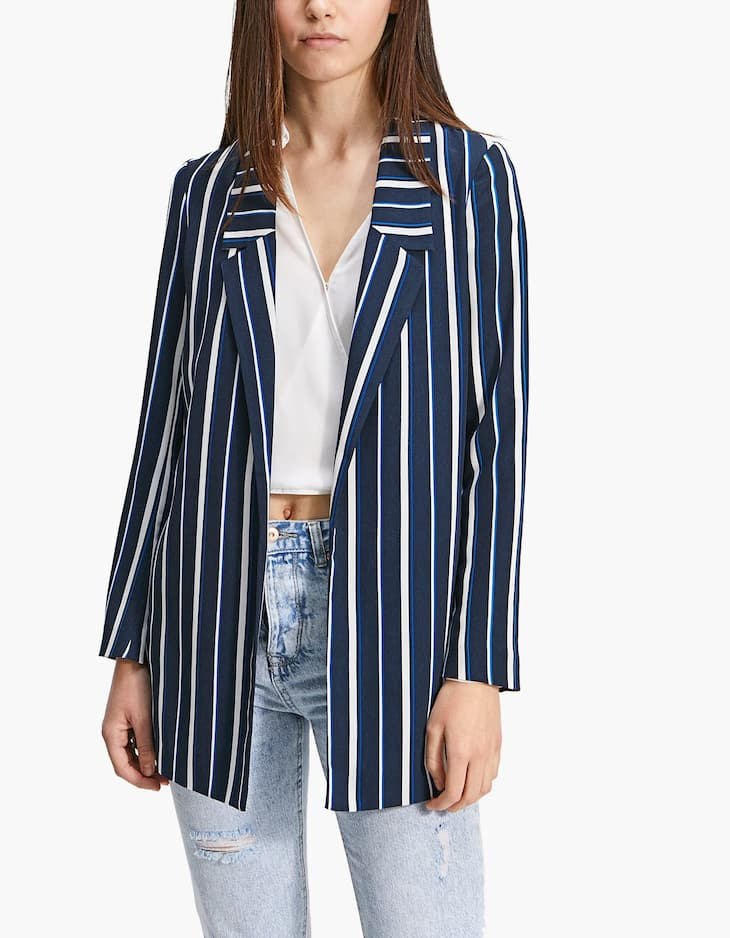 Stripe Soft Blazer
