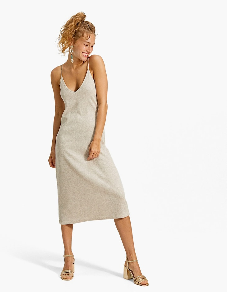 Heather knit camisole dress