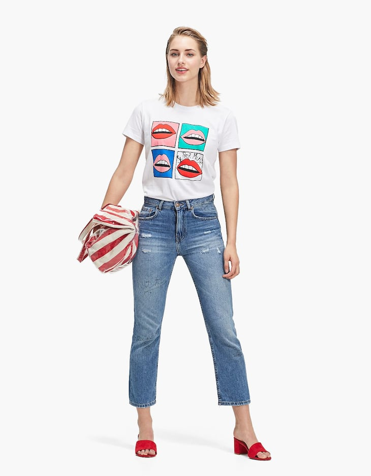 Tricou cu mânecă scurtă și elemente grafice