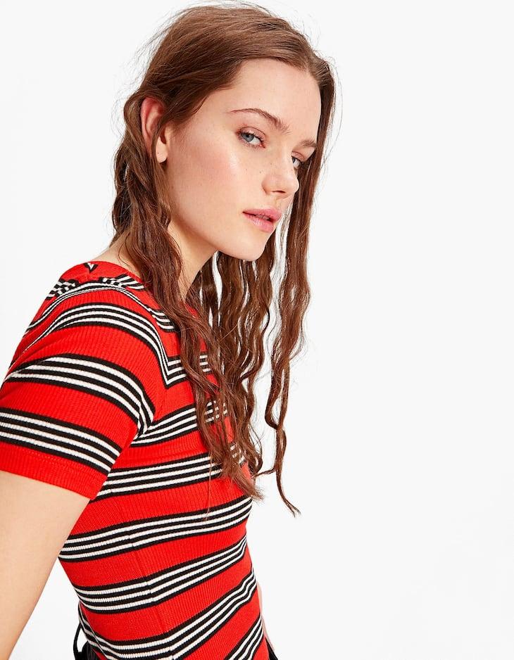 Multicoloured striped T-shirt