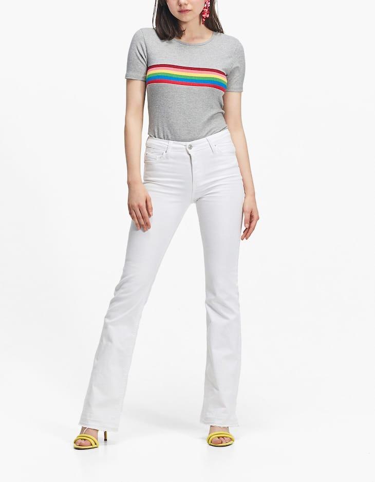 Camiseta rayas arco iris