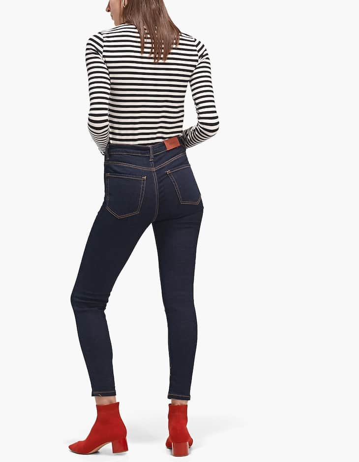 Super high waist denim jeans