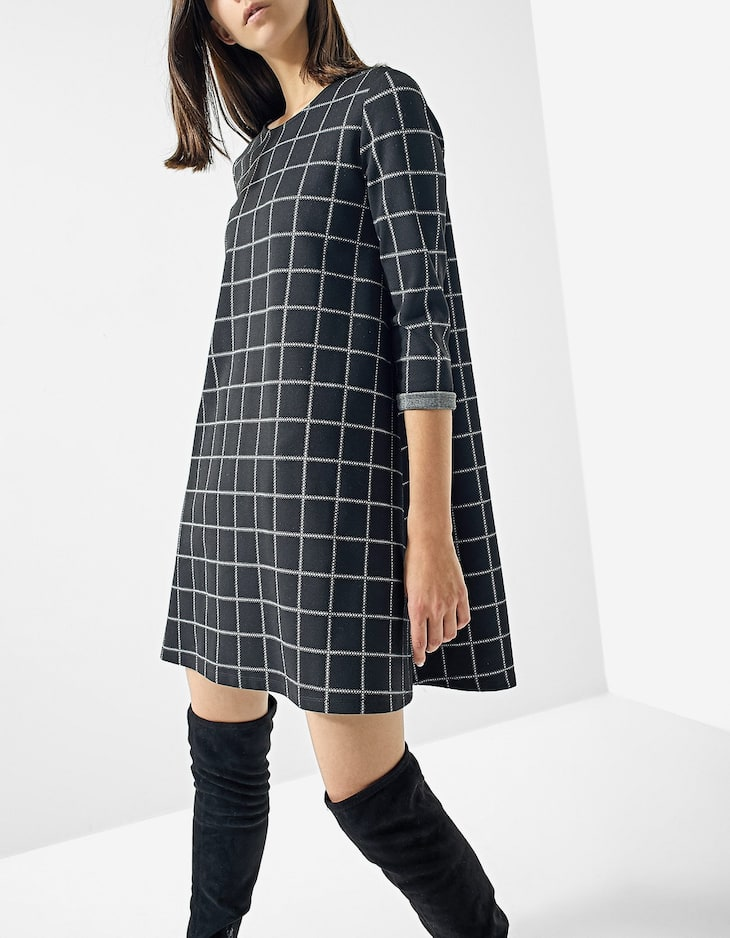 A-line long sleeve dress