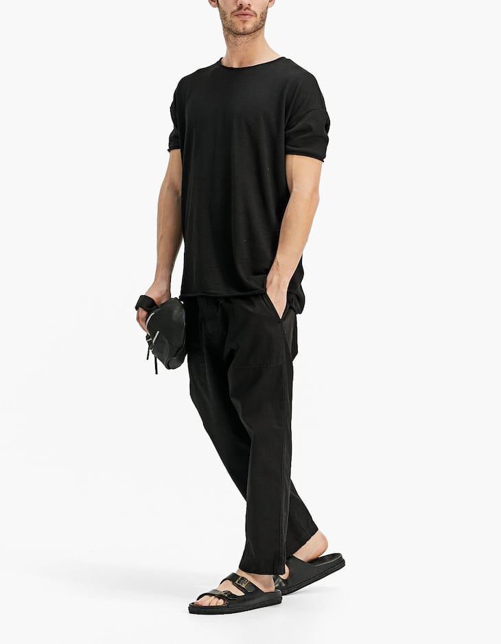 Camiseta efecto lino