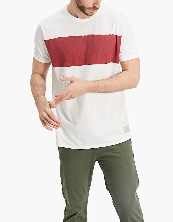 T-shirt with stripe print