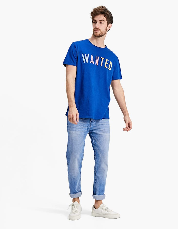 'Wanted' slogan T-shirt