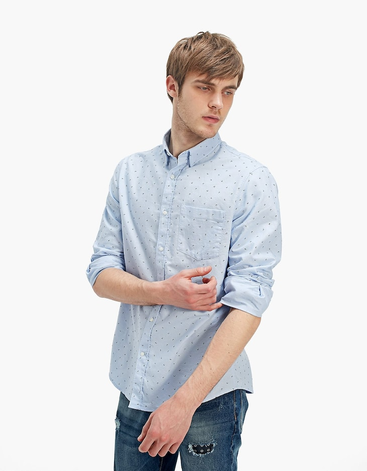 Mini print Oxford shirt