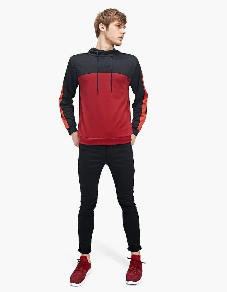 Hanorac hoodie color block