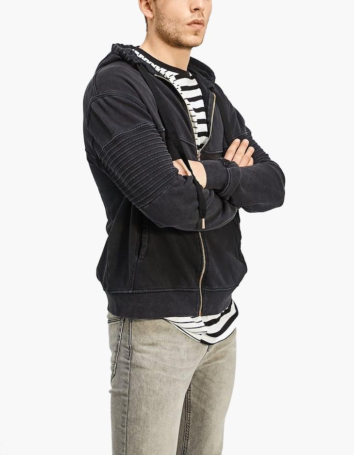 Hanorac biker hoodie