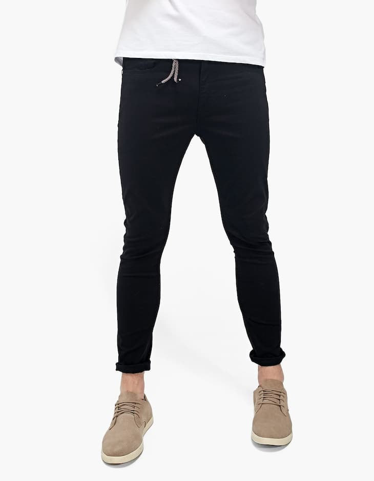 5-Pocket skinny trousers with key ring