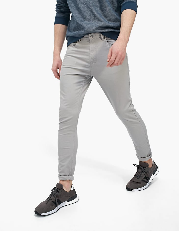5-Pocket skinny trousers with keyring