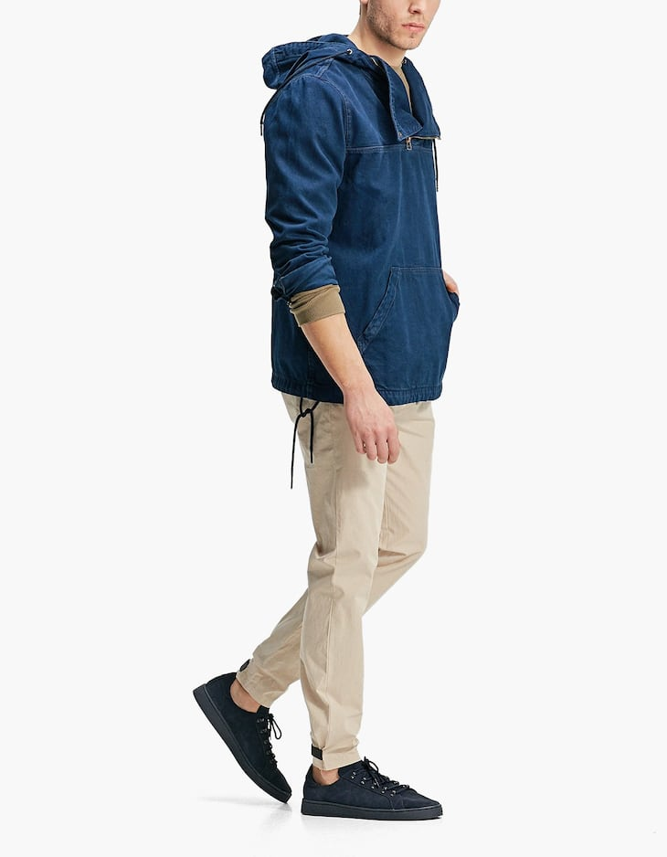 Slim fit chinos with adjustable hems