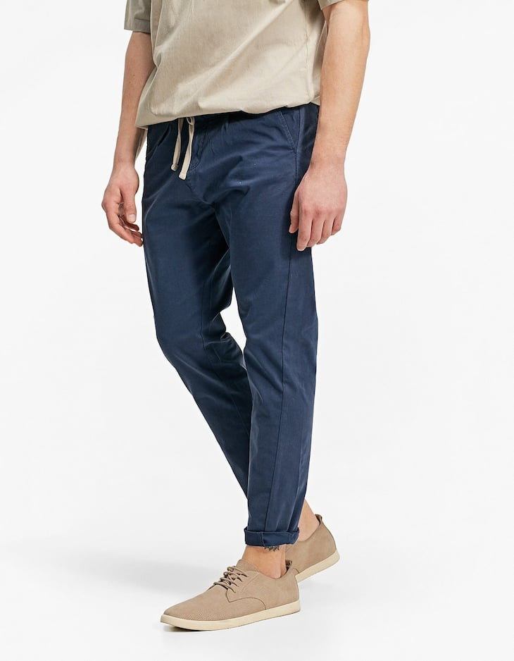 Slim fit twisted seam jeans