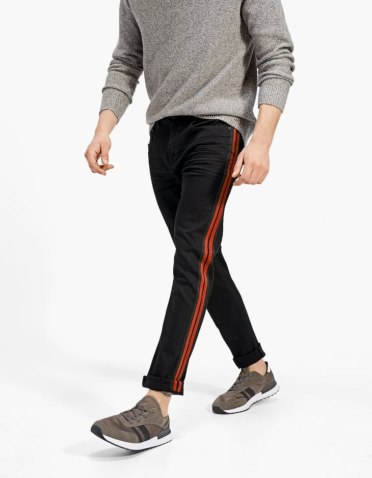 Slim fit with side stripe