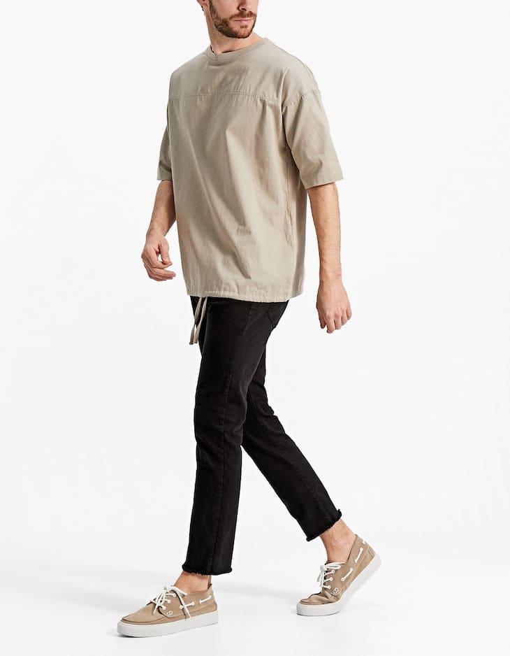 Five-Pocket-Hose mit Taschen im Washed Look