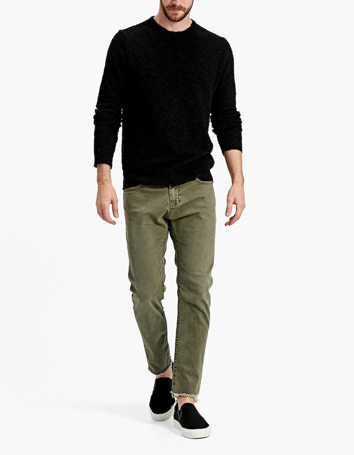 Faded five-pocket trousers