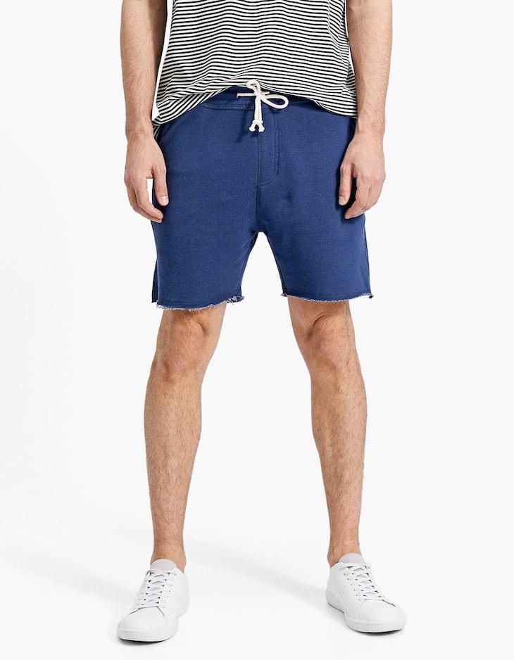 Bermuda jogger in maglia