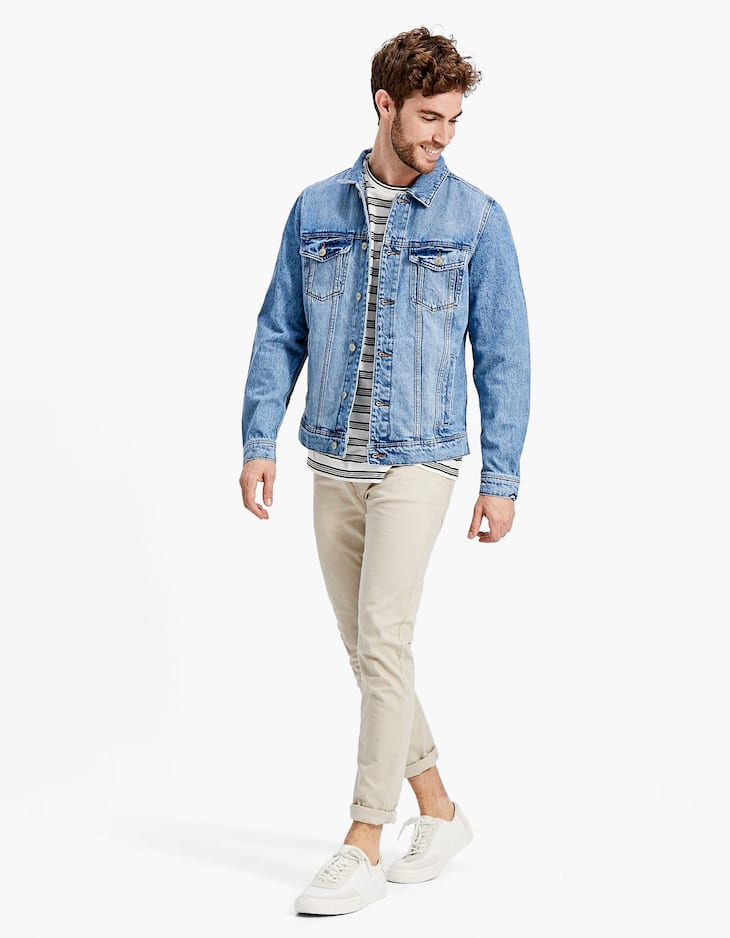 Basic-Denimjacke