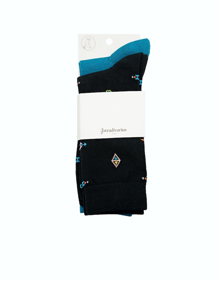 Set of 3 pairs of black socks