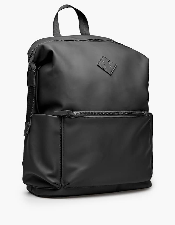 Cool backpack with rubber details
