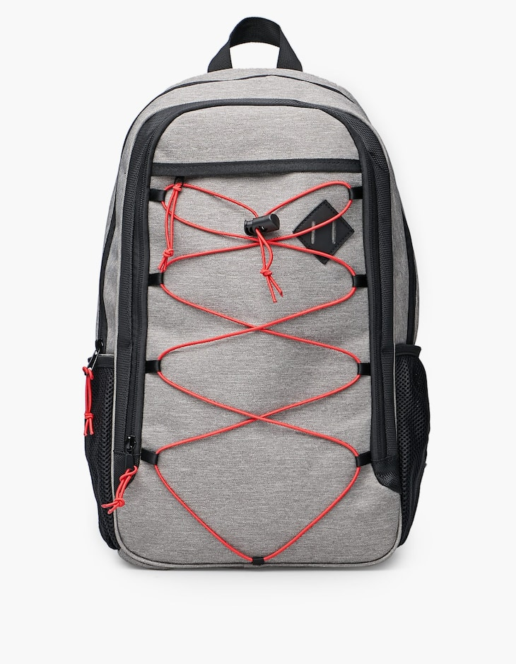 Mountain backpack with drawstrings