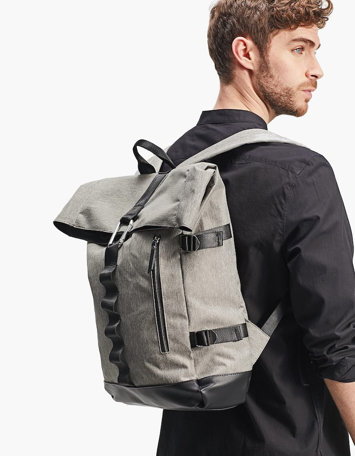 Nylon backpack with carabiner