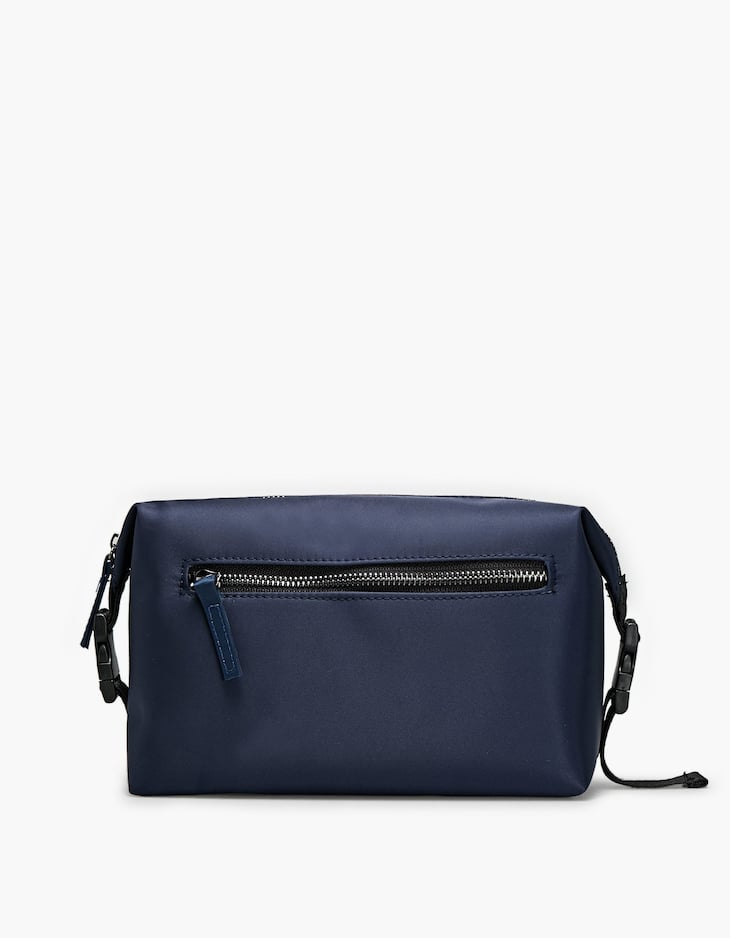 Navy blue nylon toiletry bag