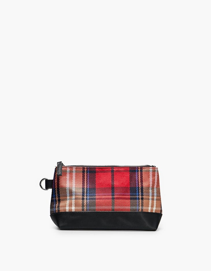 Tartan toiletry bag