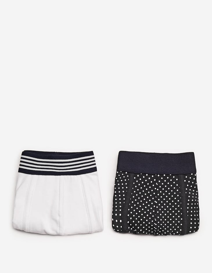 2-pack of polka dot and striped boxers