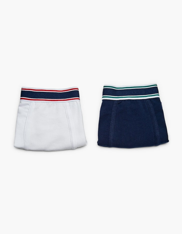 2-pack of striped stretch boxers