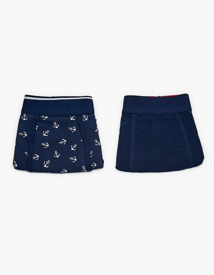 2-pack of anchor and polka dot boxers