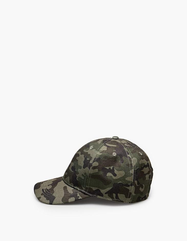 Cap mit Camouflageprint