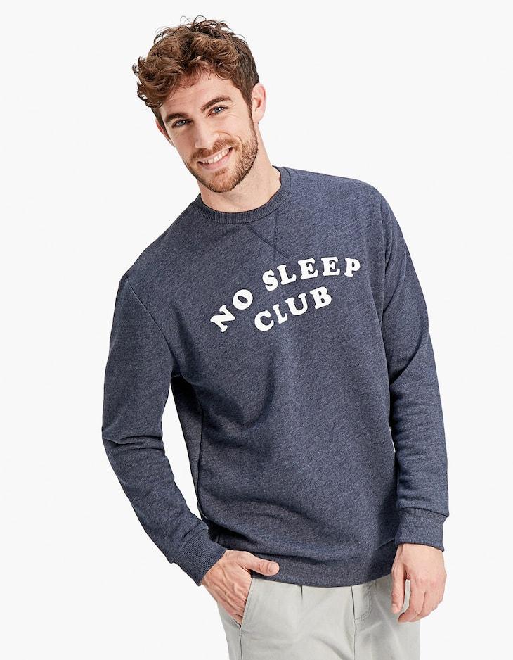 Bluză sport cu guler rotund