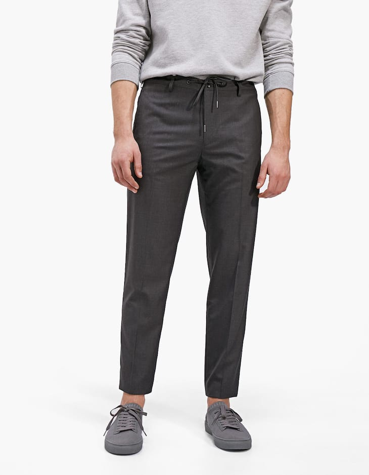 Smart trousers with faux cool wool