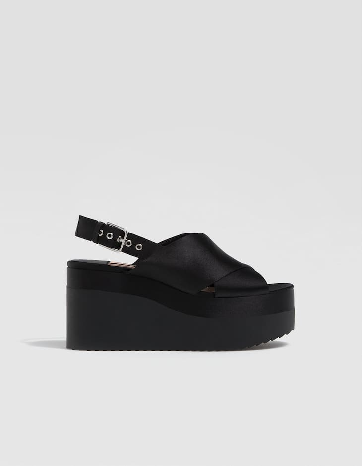 Black flatform wedges