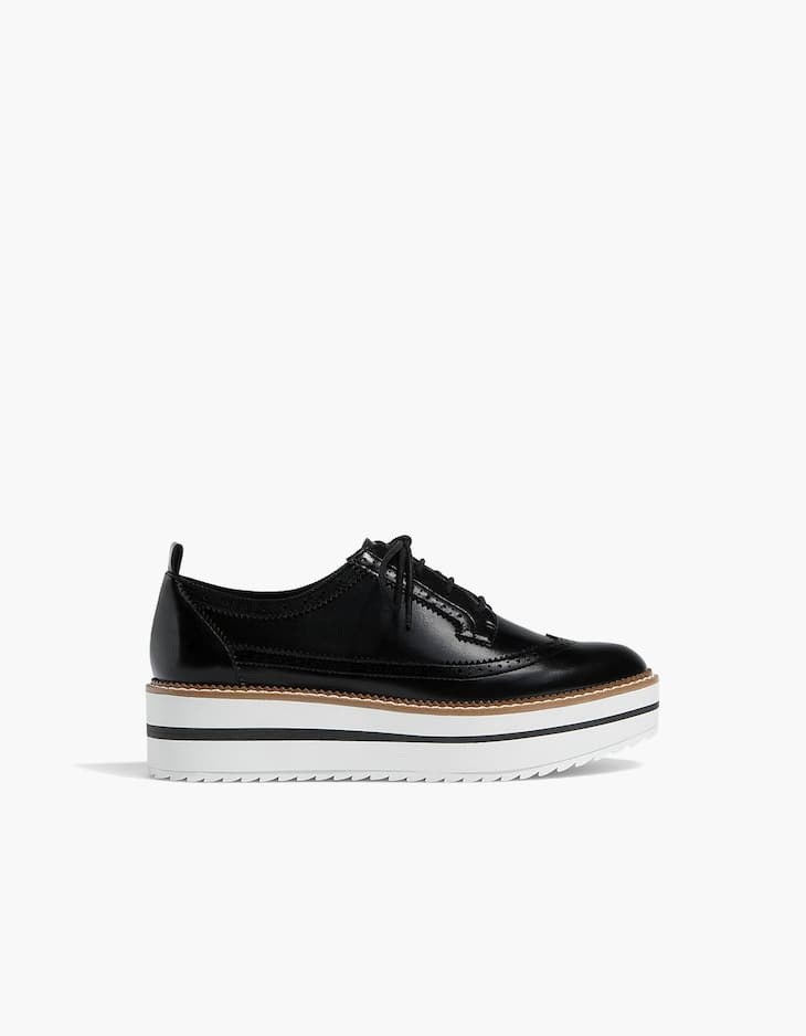 Derbies flatform perforés